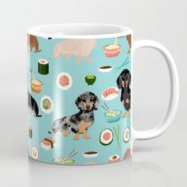 dachshund sushi multi coat doxie dog breed cute pattern gifts Coffee Mug
