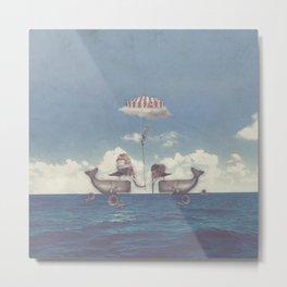 Whales circus Metal Print