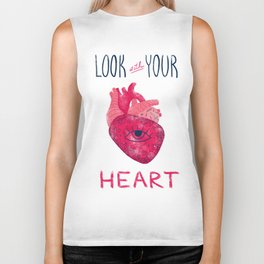 Look with your heart Biker Tank