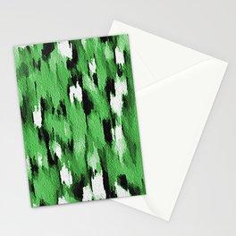 Green Leopard Pattern Stationery Cards