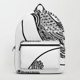 Chicken Pen Draw by WildArtLine Backpack