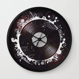 Retro record Wall Clock