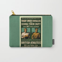 British rugby, football players call for duty Carry-All Pouch