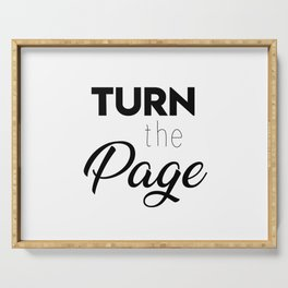 Turn the page Serving Tray