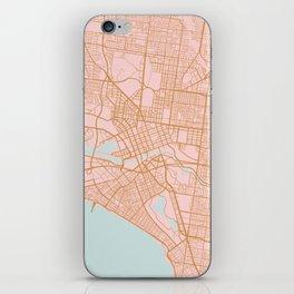 Melbourne map, Australia iPhone Skin