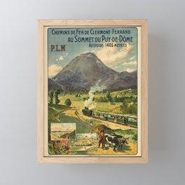 Vintage French Travel Poster: Paris-Lyon-Mediterranean - Clermont-Ferrand (1910) Framed Mini Art Print