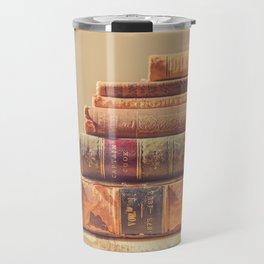 Vintage Book Stack (Color) Travel Mug