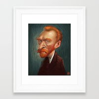 van Framed Art Prints featuring van  by helpius