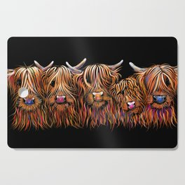 SCoTTiSH HiGHLaND CoWS ' THe HaiRY BuNCH Of CooS ' By SHiRLeY MacARTHuR Cutting Board