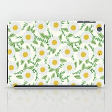 Daisies botanical floral print minimal flowers basic florals pattern charlotte winter iPad Case