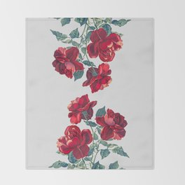 Red Roses Throw Blanket