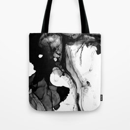 Soft Black Marble Tote Bag