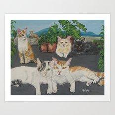 Lia's Cats Art Print