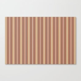 Cavern Clay SW 7701 and Accent Colors Thick and Thin Vertical Lines Bold Stripes 1 Canvas Print