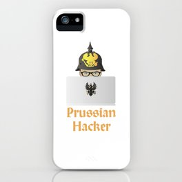 Prussian Russian Hacker Pun iPhone Case