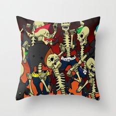 Psychobilly Brawl Throw Pillow