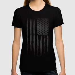 Grey American flag T-shirt