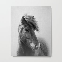 Horses - Black & White 6 Metal Print