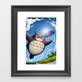 Totoro Summer Flight Framed Art Print