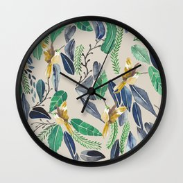 Bird Garden Vintage 02 Wall Clock
