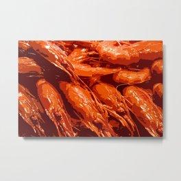 Tasty Langoustines Metal Print