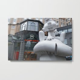 Smurf Store Central Brussels Metal Print