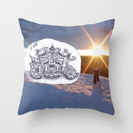 Travel with Mr Snowman Throw Pillow