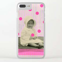 A Pinch Of Neon Clear iPhone Case