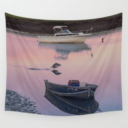 Two boats one seagull Wall Tapestry