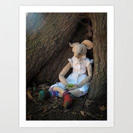 Miss Mouse under the Oak Tree Art Print