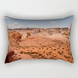 Red Valley II Rectangular Pillow