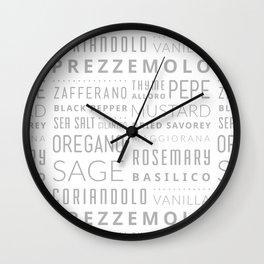 Italian Herbs & Spices Wall Clock