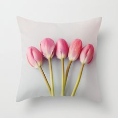 If I had a flower for every time I thought of you Throw Pillow