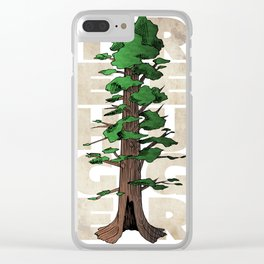 Tree Hugger Clear iPhone Case