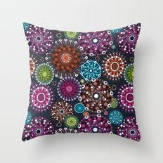Mandala Dots Throw Pillow