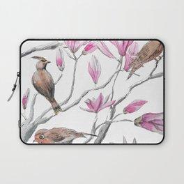 magnolia flowers and birds Laptop Sleeve