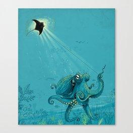 Kite Manta Canvas Print