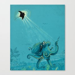 Kite Manta Canvas Print