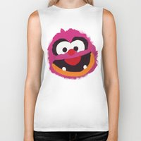muppets Biker Tanks featuring Animal Muppets Babies by Roe Mesquita