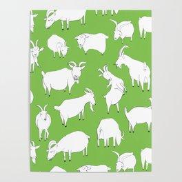 Green Goats Poster