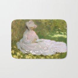 Springtime by Claude Monet Bath Mat