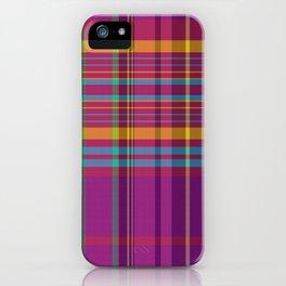 wine harmony plaid iPhone Case