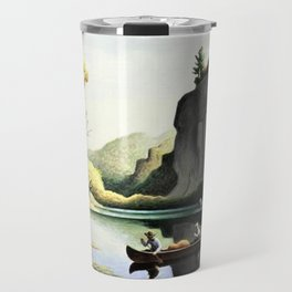 Classical Masterpiece 'Ozark Reflections' by Thomas Hart Benton Travel Mug
