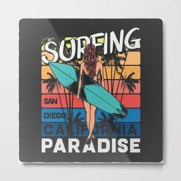 Paradise Surfing Metal Print