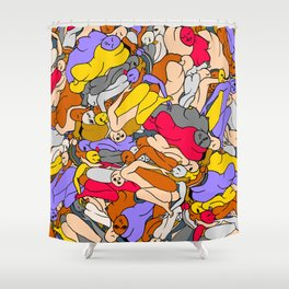 Sleepy Heads - Ruby Violet Gold Shower Curtain