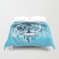 lion Duvet Covers featuring Lion by Nuam