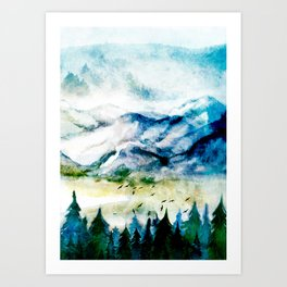 Mountain Landscape Art Print