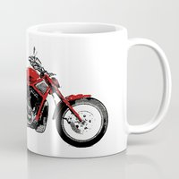 motorcycle Mugs featuring Motorcycle by magnez2