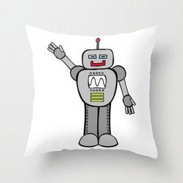 Robot Friend 2000 Throw Pillow