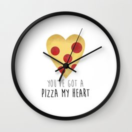 You've Got A Pizza My Heart Wall Clock